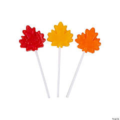 Leaf-Shaped Lollipops