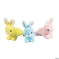 Leaping Stuffed Easter Bunnies
