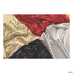 Learning Advantage® Sequins Fabric, 3.3' x 3.2', 4 pieces