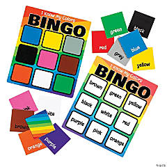 Learning Colors Dry Erase Bingo