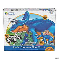Learning Resources Jumbo Dinosaur Floor Jigsaw Jigsaw Puzzle Triceratops