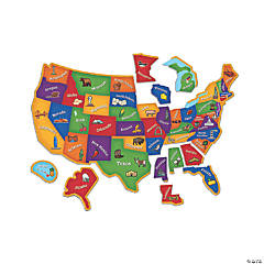 Learning Resources® Magnetic U.S. Map Jigsaw Puzzle, 44 Pieces