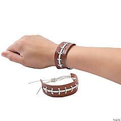 Leather Football Laces Bracelets