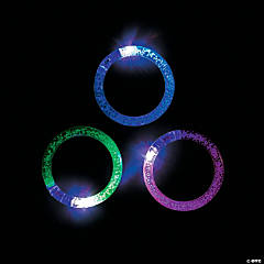 LED Bubble Light-Up Flashing Bracelets