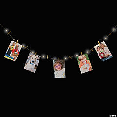 LED Gold Photo Clip String Lights