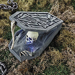 LED Skull in Coffin Halloween Decoration