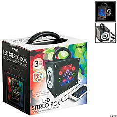 LED Stereo Box Color-Changing Speaker