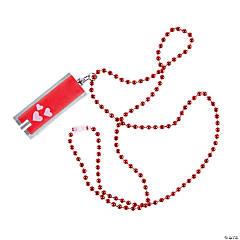 LED Valentine Flashlight Beaded Necklaces
