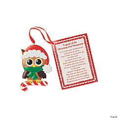 Legend of the Christmas Owl Ornaments with Card
