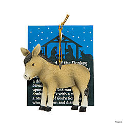 Legend of the Donkey Christmas Ornaments with Card