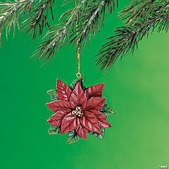 Legend of the Poinsettia Christmas Ornaments