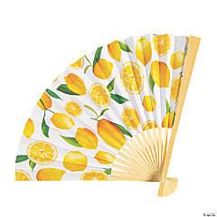 Lemon Printed Folding Hand Fans