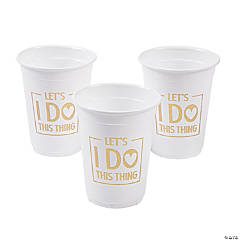 Let's I Do This Thing Cups