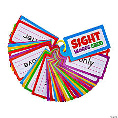 Level 2 Sight Word Cards on a Ring