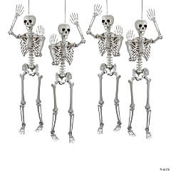 Life Size Posable Skeleton Halloween Decorations