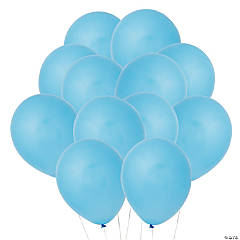 "Light Blue 11"" Latex Balloons"
