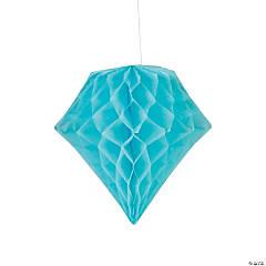 Light Blue Diamond Tissue Paper Hanging Decorations