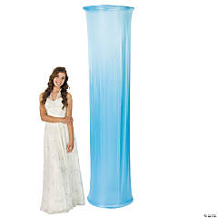 Light Blue Fabric Column Slip