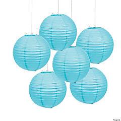 Light Blue Hanging Paper Lanterns