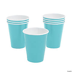 Light Blue Paper Cups - 24 Ct.