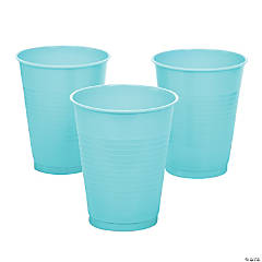 Light Blue Plastic Cups - 20 Ct.