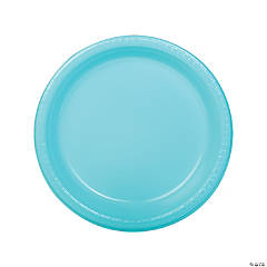 Light Blue Plastic Dinner Plates - 20 Ct.