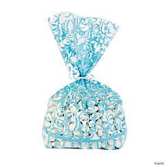 Light Blue Swirl Cellophane Bags