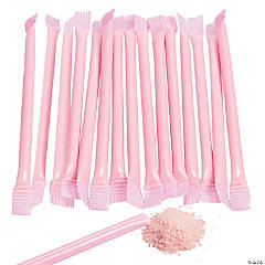 Light Pink Candy-Filled Straws