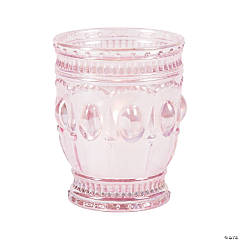 Light Pink Vintage Votive Candle Holders