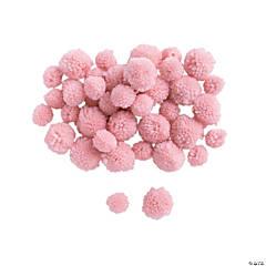 Light Pink Yarn Pom-Poms