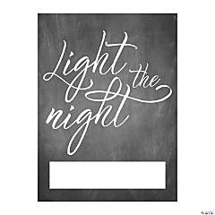 Light the Night Send-Off Easel Sign