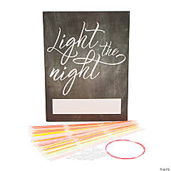 Light the Night Send-Off Glow Necklaces with Easel Sign