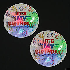 Light-Up Birthday Badges