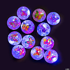 Light-Up Butterfly Glitter Water Bouncing Balls