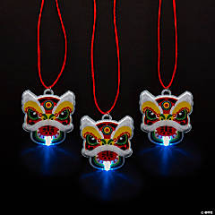 Light-Up Chinese New Year Dragon Necklaces