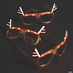 Light-Up Christmas Reindeer Glasses