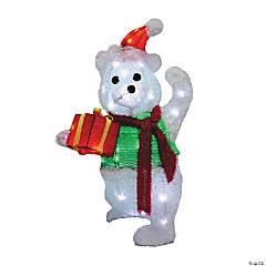 Light-Up Christmas Teddy Bear with Gift