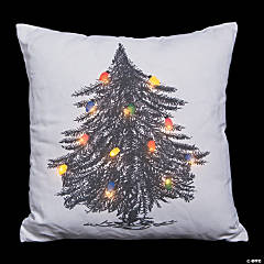 Light-Up Christmas Tree Pillow