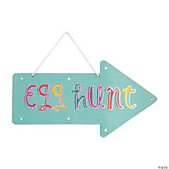 Light-Up Easter Egg Hunt Door Sign