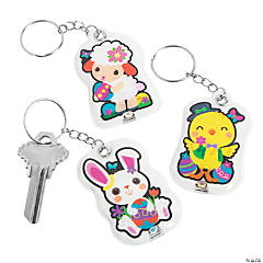 Light-Up Easter Keychains