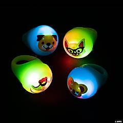 Light-Up Flashing Animal Rings