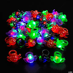 Light-Up Flashing Spider Rings - 48 Pc.