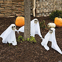 Light-Up Ghost Yard Stakes Halloween Decorations
