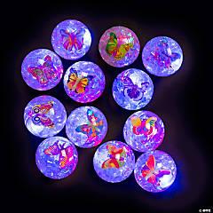 Light-Up Glitter Butterfly Bouncy Balls
