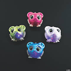 Light-Up Glitter Cat Puffer Toys