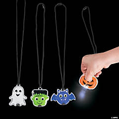 Light-Up Halloween Character Necklaces