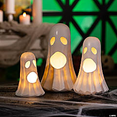 Light-Up Halloween Ghosts Tabletop Decoration