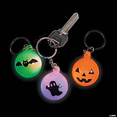 Light-Up Halloween Keychains