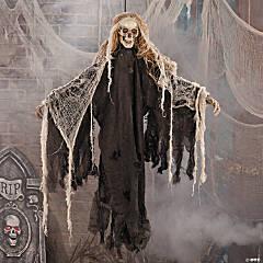 Light-Up Hanging Skeleton Halloween Decoration