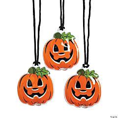 Light-Up Jack-O'-Lantern Necklaces